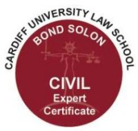 Cardiff University Bond Solon Civil Expert Witness Certificate